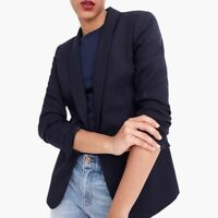 NWT J. Crew Parke Blazer in Navy Blue Wool Flannel Women's Size 2