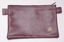 "Sparkasse Bank Deposit Bag 8 1/2"" Zipper 1990's Burgundy Pleather - USED C01"