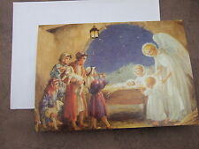 8 Religious CHRISTMAS CARDS NATIVITY picture with Children Shepherds & Angels