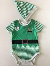 Baby Size 000 Green Elf 2 Pce Set Christmas
