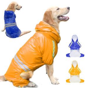 Reflective Dog Rain Coat Dog Hooded Lightweight Jacket Waterproof Pet Raincoat