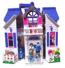 Puppenhaus +Puppen +Möbel klappbar Puppenstube Spielhaus Dollhouse Spielzeug Set
