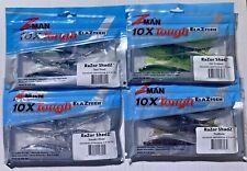 Z-Man RaZor ShadZ 4 1/2 inch Soft Jerkbait 4 pack Bass Pike Zman Fishing Choose