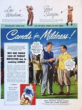 Original 1949 Print Ad CAMELS for Mildness Lew Worsham Gene Sarazen