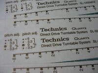 2 x Technics decal sticker SL1200 mk2 custom pimp mod turntable  - Printed GOLD