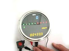 LED Digital Speedometer and Tachometer Assembly for Custom Harley - Chopper