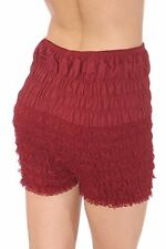 SISSY  RUFFLED FRILLY BLOOMER LACE PETTIPANTS LARGE WAIST - 38 IN