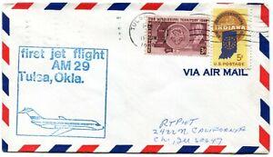 Continental Airlines First Flight Tulsa Oklahoma - Los Angeles California - DC-9