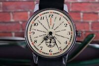 POBEDA Cities Vintage Russian Mens Mechanical watches +New Leather Strap /Gift