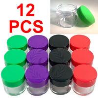 12 PACK 30g 30ml Cosmetic Sample Plastic Empty Large Jar Makeup Cream Lip Balm