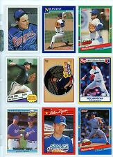 NOLAN RYAN -- 9 DIFFERENT YEAR/MANUFACTURE CARDS IN AN ULTRA PRO SHEET