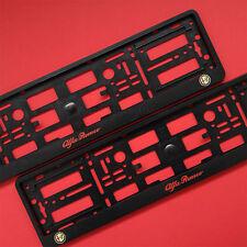New Pair Alfa Romeo Number Plate Surrounds Holder Frame For Alfa Romeo Cars