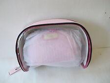 Victoria's Secret Pink Striped Leopard Cosmetic Bag Trio Set