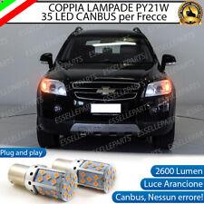 COPPIA LAMPADE PY21W BAU15S CANBUS 3.0 35 LED CHEVROLET CAPTIVA FRECCE ANTERIORI