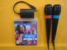 Ps3 SingStar Dance + 2 con Cable Micrófonos Micrófonos Singstar PAL región libre
