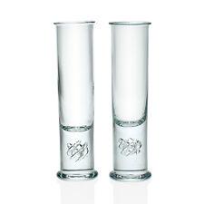 "Holmegaard por Lutken-par de altas ""High Life"" Whisky Vasos - 1970s danés"