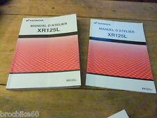 MANUEL REVUE TECHNIQUE D ATELIER HONDA XR 125 L 2003 - 2004 XR125L