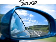 SAXO Sticker Decal Etched Glass Effect  Mirror Styling