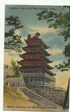 Vintage postcard showing Pagoda at the top of Mt. Penn, Reading, PA