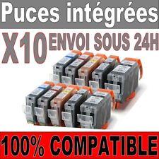 ** 10 Cartouches Prodess compatible Canon PGI 520 521 noir cyan magenta jaune **