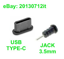 ANTI DUST STOPPER SET USB-C TYPE-C + 3.5MM JACK SILICONE BLACK for VERNEE MARS