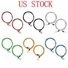 2pcs 2m Lock Wire Braided Steel Double Loop Security Anti Theft Coil Cable Bike