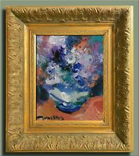 JOSE TRUJILLO FRAMED Modern Oil Painting SIGNED Impressionist Flowers Still Life