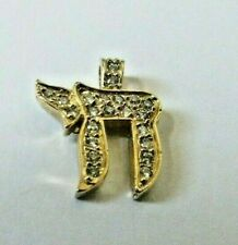 DIAMOND CHAI PENDANT 14K YELLOW GOLD