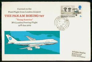 Mayfairstamps Great Britain FDC 1970 London Airport Pan Am Boeing 747 Cover wwi_