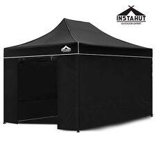 NEW 3x4.5m Black Pop-up Outdoor Camping Garden Garage Sun Shade Yard Sale Gazebo