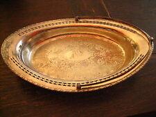 dekorativer Tafelaufsatz Silberschale Schale mit Henkel reich verziert silber pl