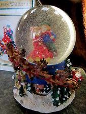 MUSICAL Christmas REVOLVING SKATERS Water Snow GLOBE Ball REVOLVING INNER BASE!