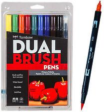 Tombow Dual Brush Pens, Primary Pallette, 56167, 10 Pen Set