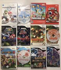 Nintendo Wii Games Lot Super Mario Galaxy / Bros / Kart / Party, Pokémon Battle+