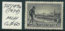 AUSTRALIA - 1934  Victoria Centenary  1/-  `BLACK` SG149a  MLH Cv $60  [7387]