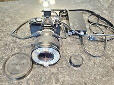 Nikon Fe 35mm Film Camera w/ Nikkor Medical 120mm Lens & Accessories Ld-2 Lot