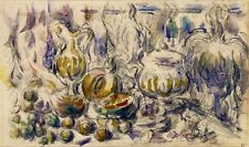 Pot and Soup Tureen by Paul Cezanne Giclee Repro on Canvas