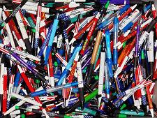 Wholesale Lot Of 175 Misprint Ink Pens Ball Point Plastic Retractable Pens