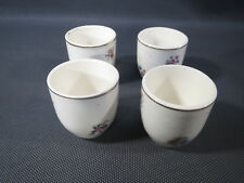 Lot 4 antique small cups of tea party toy set ceramic doll old doll cups