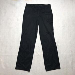Nike Golf Pants Mens 34x32 Black Straight Leg Flat Front Cotton Blend