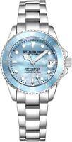 Stuhrling 3950L Women's Underwater Svelte 32mm MOP Stainless Link Bracelet Watch