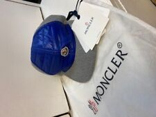 Moncler Grey/Blue Quilted Men's Hat. 100% Authentic