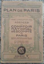 Plan de Paris Comptoir national d'escompte avec métro circa 1910