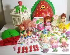 Huge Vintage Lot of Strawberry Shortcake Dolls, and Accessories 80's & 90's