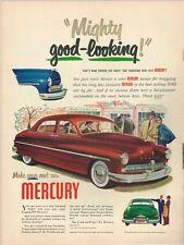 "Original 1949 Mercury Car ""Mighty Good Looking"" paper ad 10¼ x 14 inch T-Trove"