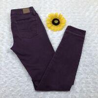 American Eagle Womens Jegging Jeans Sz 0 Super Stretch Ankle Purple Denim jr401