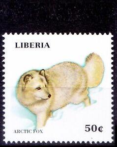 Liberia 1999 MNH, Wild Animals, Arctic Fox