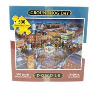 """DOWDLE 500- Piece PUZZLE """"GROUNDHOG DAY!"""" 16x20in Made in the USA"""
