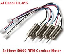 x4 Chaoli CL-615 59000RPM Upgrade Motors Inductrix Whoop MQX E010 Micro Drone