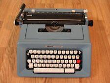 Vintage Olivetti Studio 46 Typewriter Portable Blue Working White Keys NO CASE